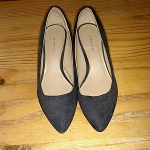 Black heels, size 5, padded insoles for comfort!